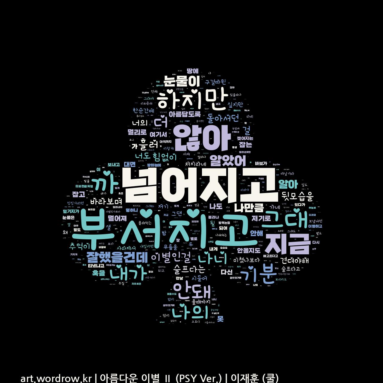 워드 클라우드: 아름다운 이별 Ⅱ (PSY Ver.) [이재훈 (쿨)]-48